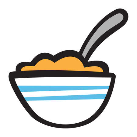 Bowl of Cereal icon 向量圖像