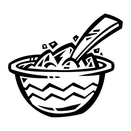 bowl of cereal: Bowl of Cereal  icon Illustration