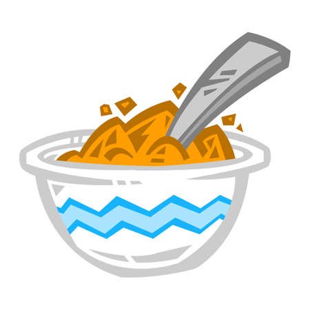 Bowl of Cereal icon Illustration