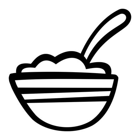 Bowl of Cereal icon Ilustracja