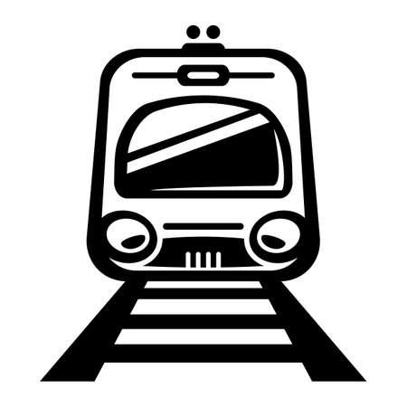 Subway Train Light Rail Car vector icon