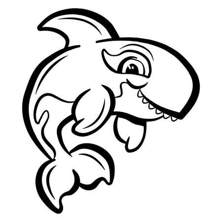 범고래 오르카 벡터