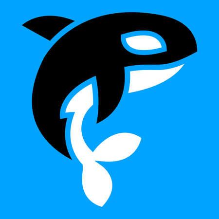 Orca orca vector Ilustración de vector
