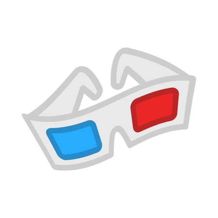 3D Movie Glasses Illustration