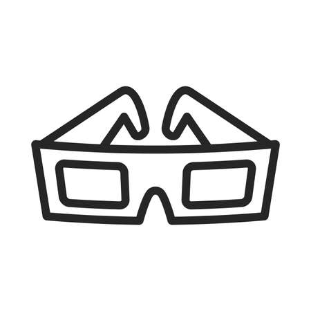 3D Movie Glasses Ilustrace