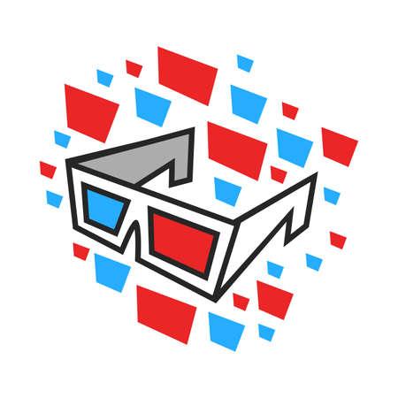 3D Movie Glasses Ilustracja