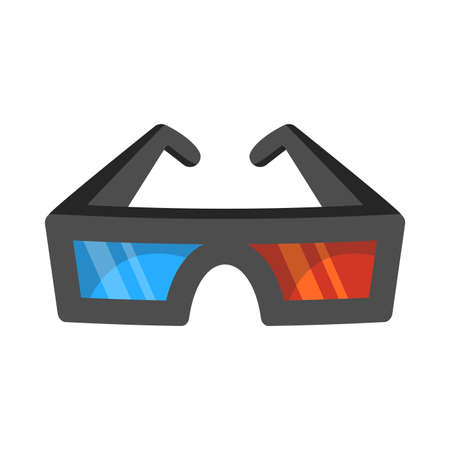 anaglyph: 3D Movie Glasses Illustration