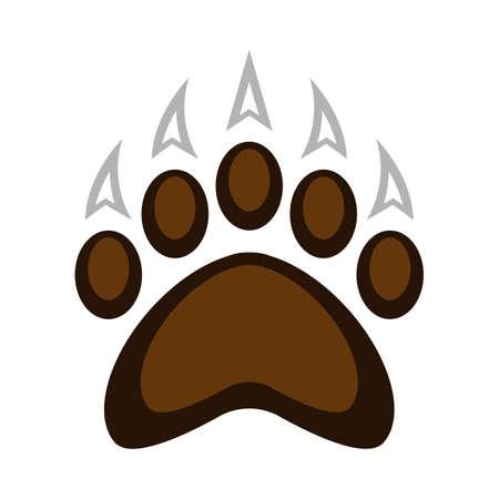 Illustration vectorielle de grizzly bear griffe