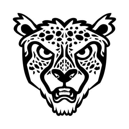 Cheetah big cat vector illustration Illustration