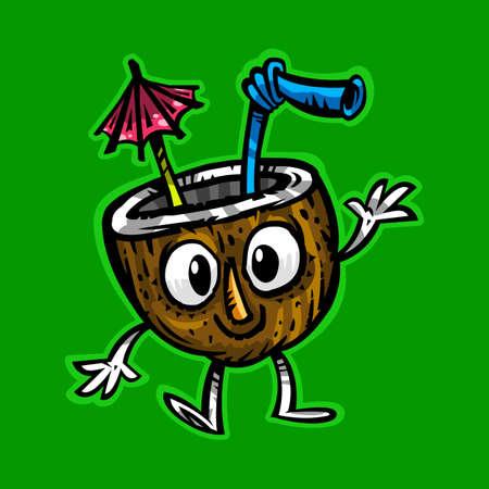 Tropical coconut drink vector 向量圖像