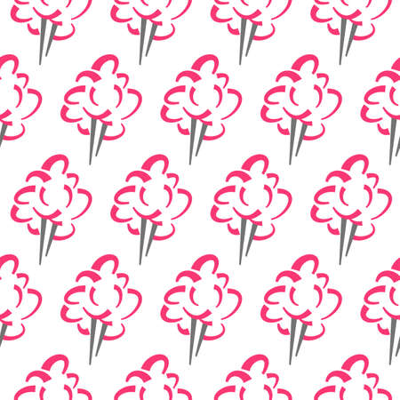 Cotton candy vector pattern (swatch included)