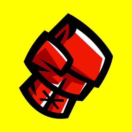 Boxing Gloves Punching 矢量图像