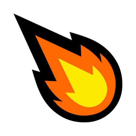 Hot Flame Fireball vector cartoon Vektoros illusztráció