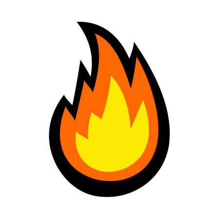 Caricature de vecteur de boule de feu flamme chaude Vecteurs