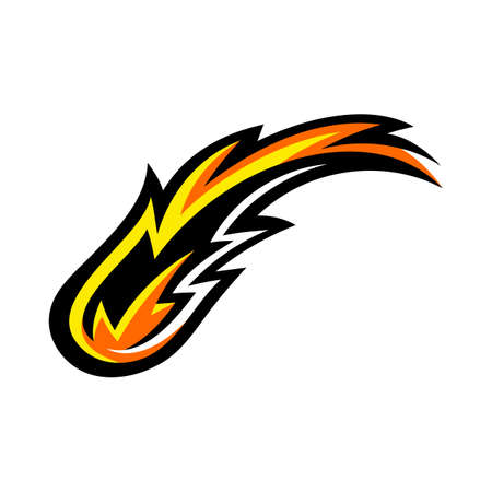 Hot Flame Fireball vector cartoon