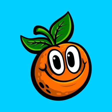 Orange fruit illustration
