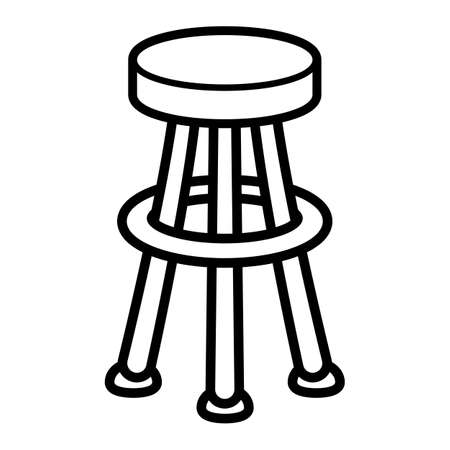Stool Chair Seating Furniture Illustration