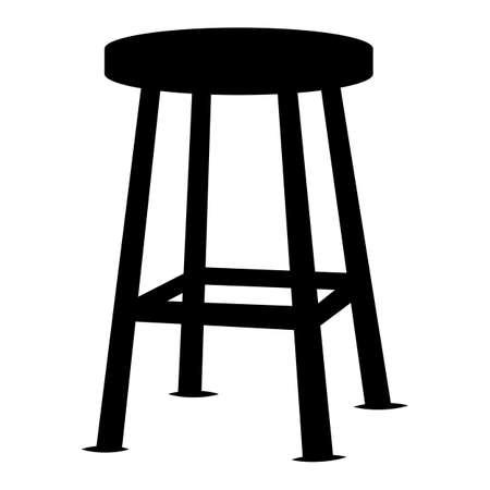 Stool Chair Seating Furniture Illustration Ilustração Vetorial