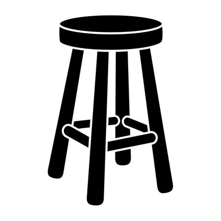 Stool Chair Seating Furniture Illustration Vectores