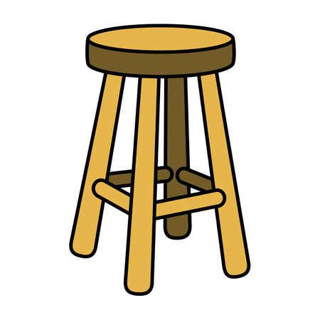 Stool Chair Seating Furniture Illustration