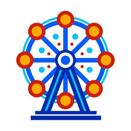 Ferris Wheel Circus Ride Cartoon