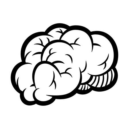 Human Brain Medical Anatomy Cartoon Illustration Stok Fotoğraf - 132359548