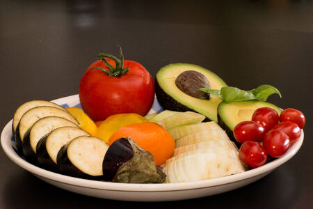 meal preparation: Assorted raw vegetables for meal preparation
