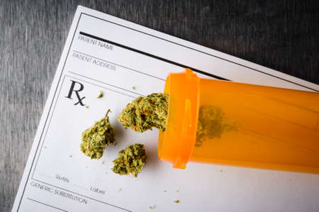 a prescription for medical marijuana Stock Photo