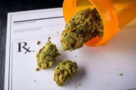 een recept voor medische marihuana Stockfoto