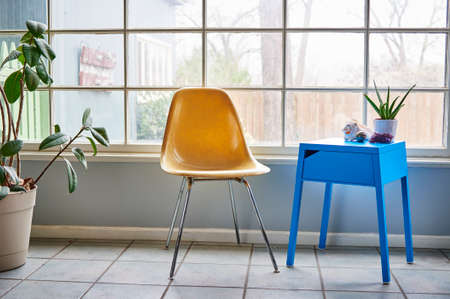 century plant: a modern chair and side table