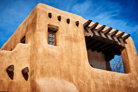 een adobe huis in het Zuidwesten