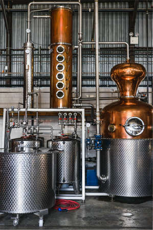 brewery equipment Standard-Bild