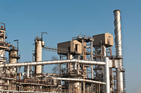 A petrochemical refinery plant photo