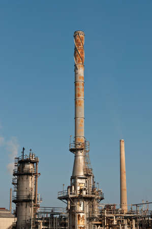 A petrochemical refinery plant