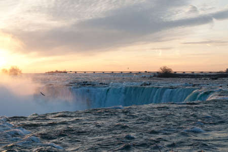 Niagara Falls - Horseshoe Falls at sunrise. Stock Photo - 8216709