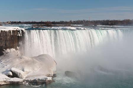 The American Falls on the Niagara River in winter. photo