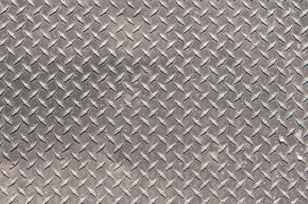 chequer: Steel flooring with an anti-slip surface. Stock Photo