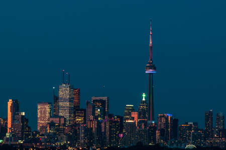 The city skyline of Toronto, Ontario, Canada in the evening light. photo