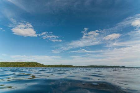 muskoka: A Canadian lake in the Muskoka region of Ontario in the summertime.