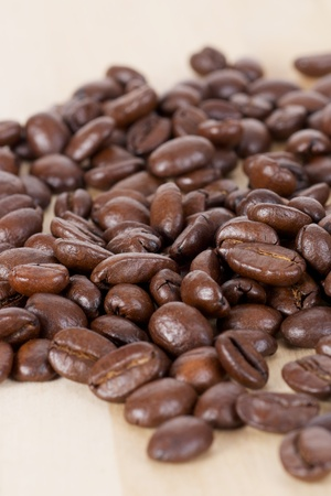 caffeine free: Picture of coffee beans, close up