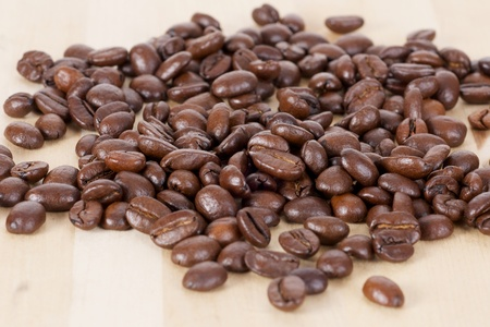 Picture of coffee beans, close up Stock Photo - 10527451