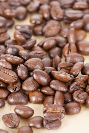 Picture of coffee beans, close up photo