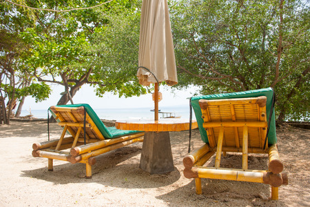 seaview: Seaview from huts, cottages, sunbeds and chairs