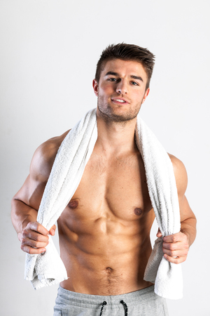 Fit, muscular male body, stock picture Stock Photo