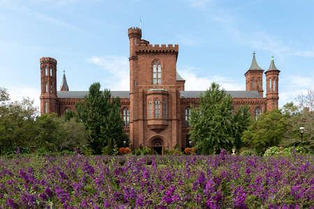 seneca: Washington DC, USA, August 30 - The Smithsonian Castle South Lawn in Washington DC Editorial