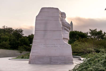 Washington DC, USA, September 12, 2015 -  The Martin Luther King  Jr. Memorial,  West Potomac Park, Washington, D.C. It was created by the sculptor Lei Yixin