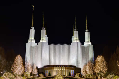 md: Washington D.C. Temple, The Church of Jesus Christ of Latter-day Saints LDS Church in Kensington MD.