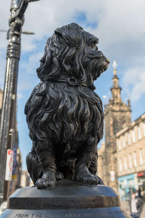 bobby: A status of Greyfriars Bobby in Edinburgh, United Kingdon Editorial