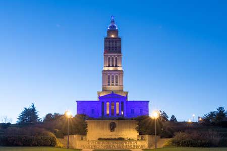 masonic: The George Washington Masonic National Memorial in Alexandria VA, USA.