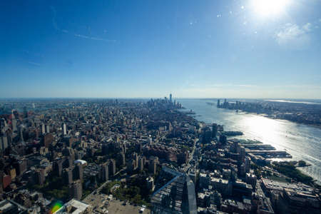 New York, NY / United States - Oct. 14, 2020: a landscape view of lower Manhattan, seen from